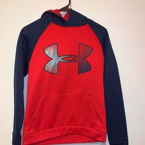 Under Armour red Hooded Pullover Sweater Hoodie